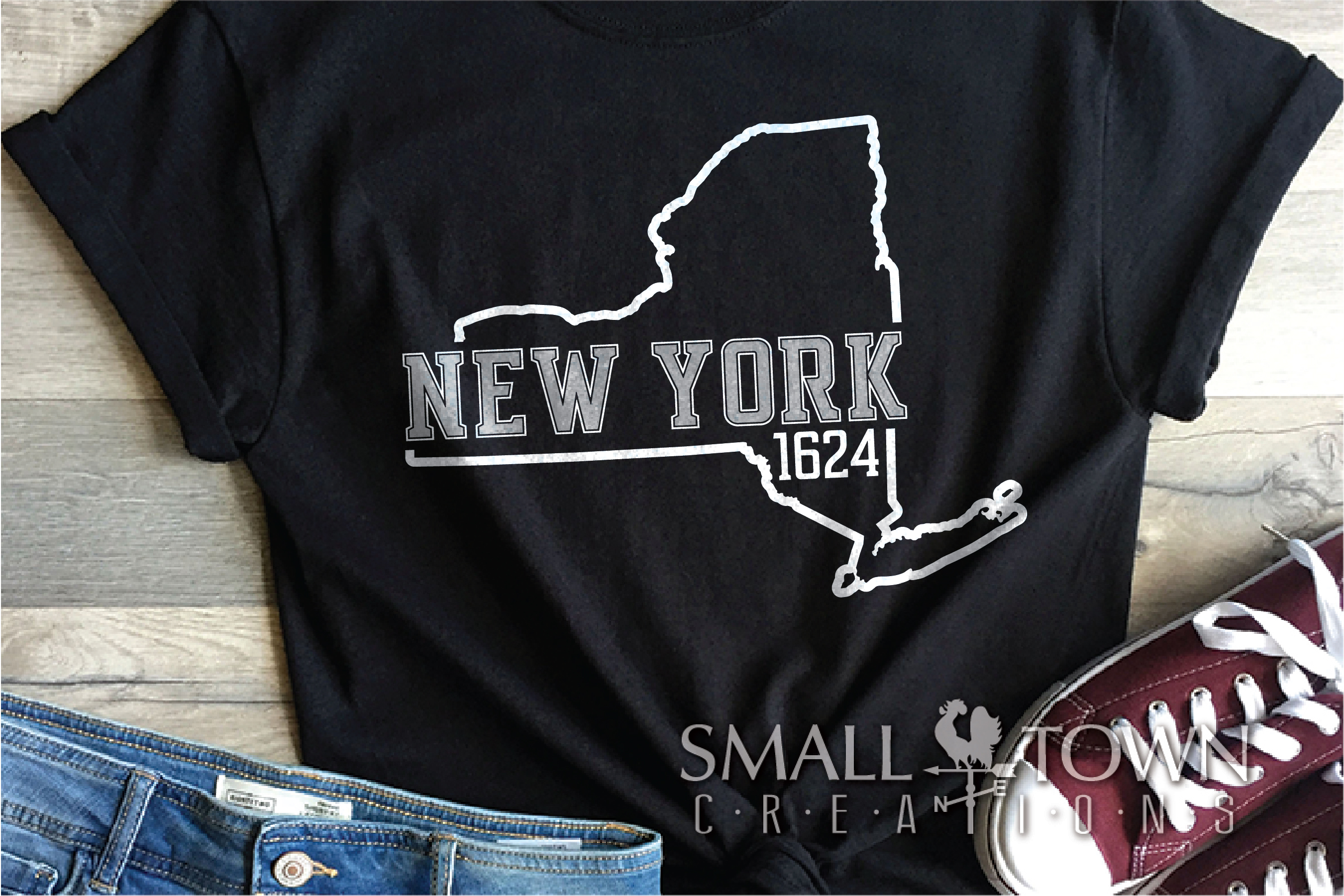 New York, Empire State - slogan, PRINT, CUT & DESIGN example image 8