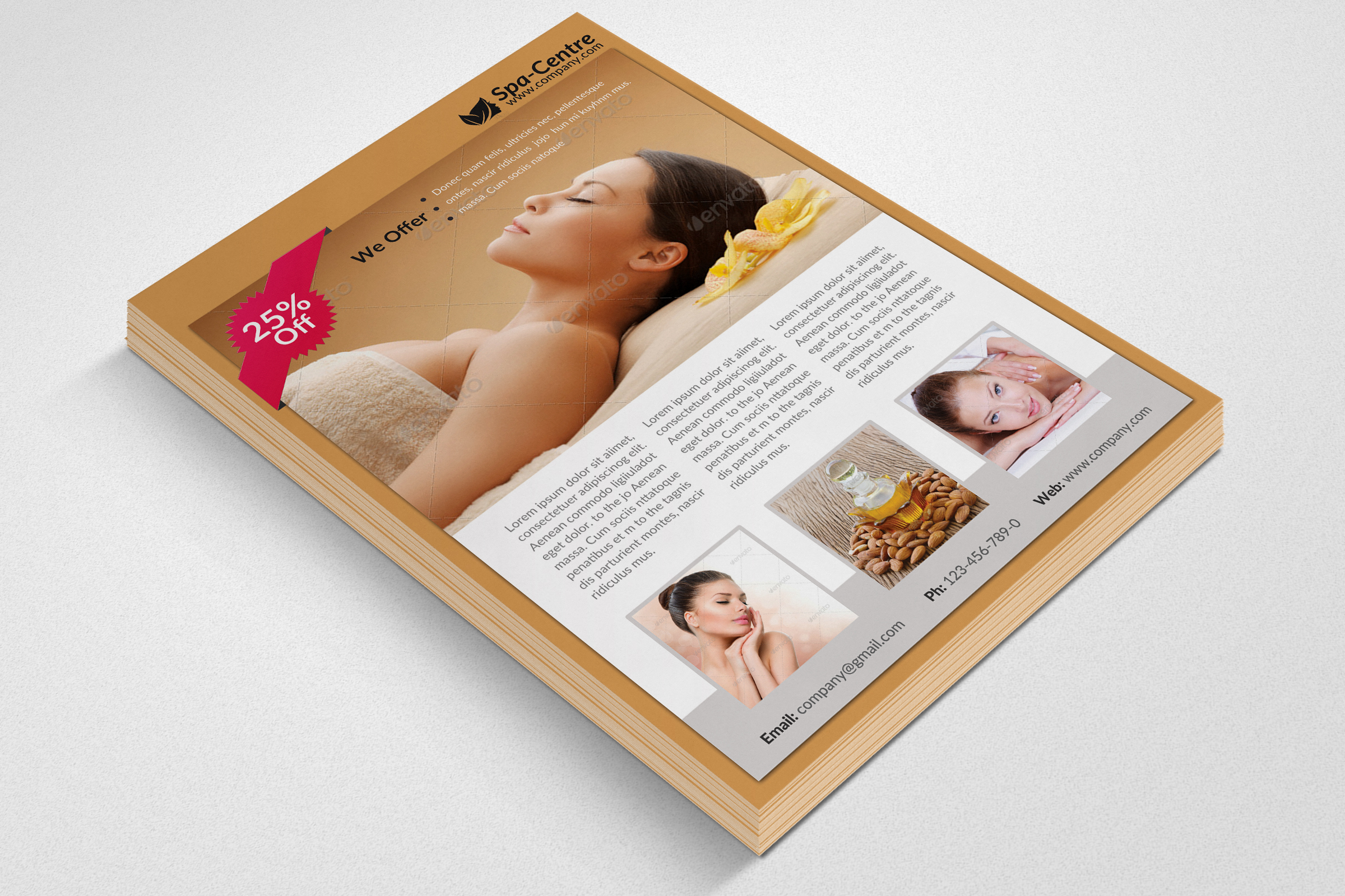 Beauty Spa & Massage Flyer example image 2