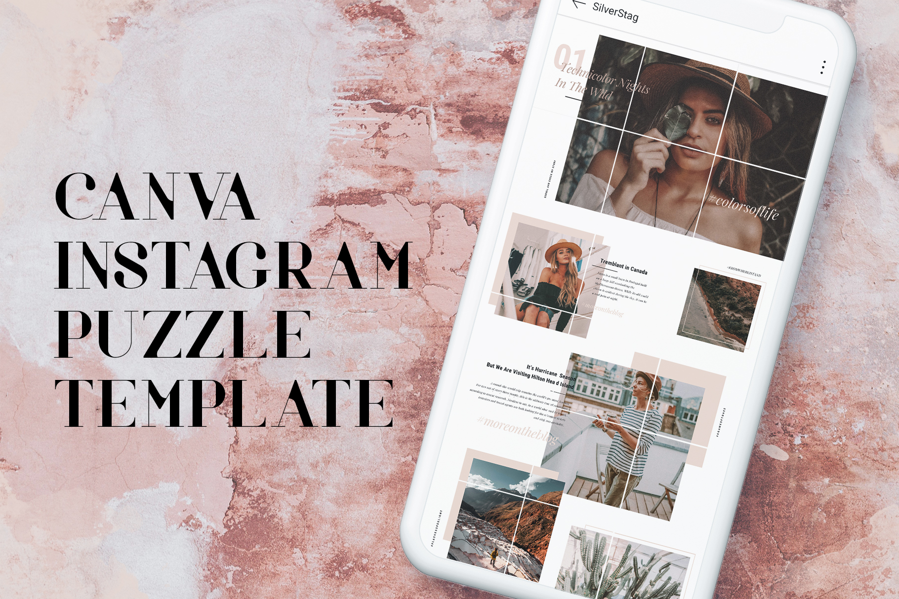 #InstaGrid 1.0 - Instagram Canva Puzzle Template example image 3