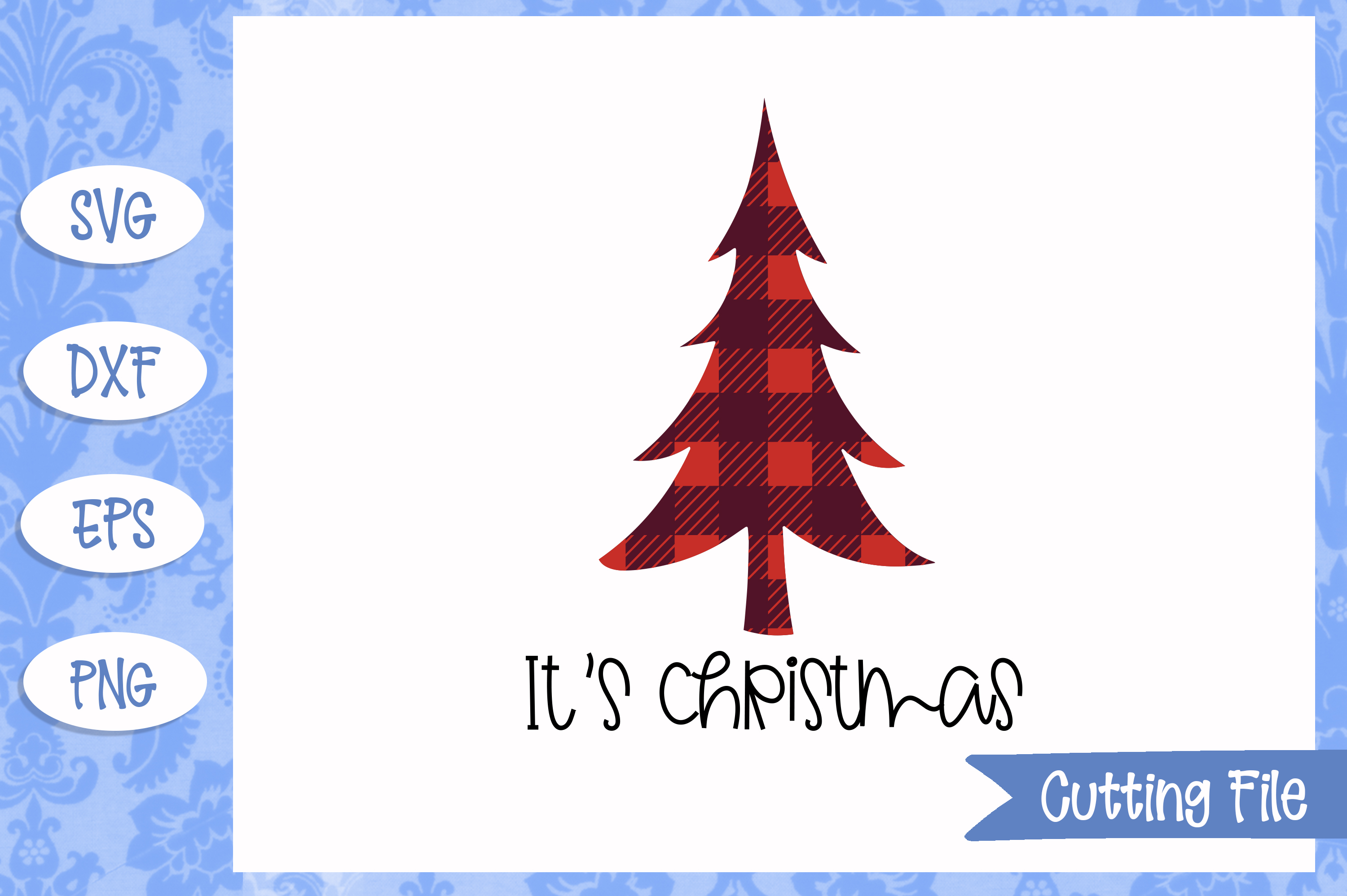 It's Christmas Cut File example image 1