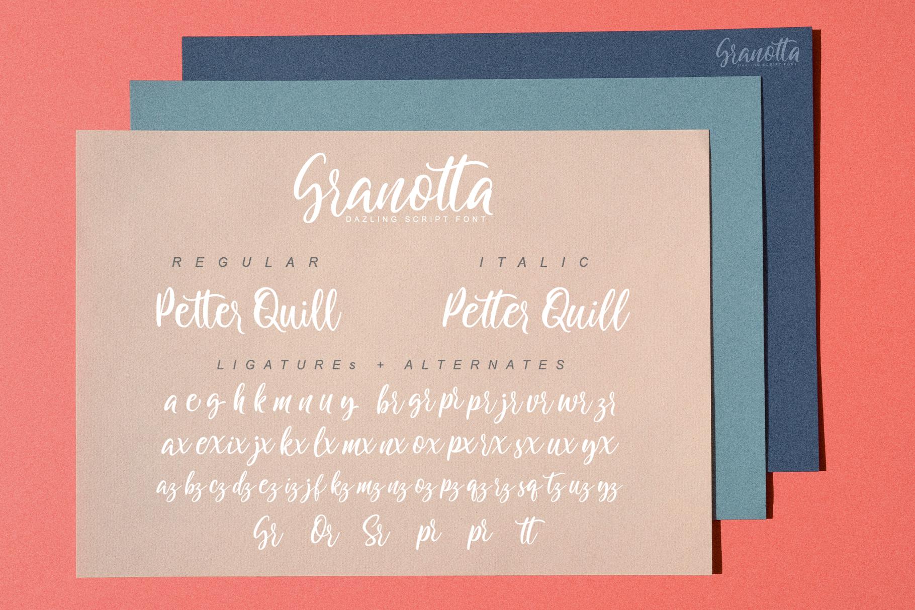 Granotta Dazling Script Font example image 8
