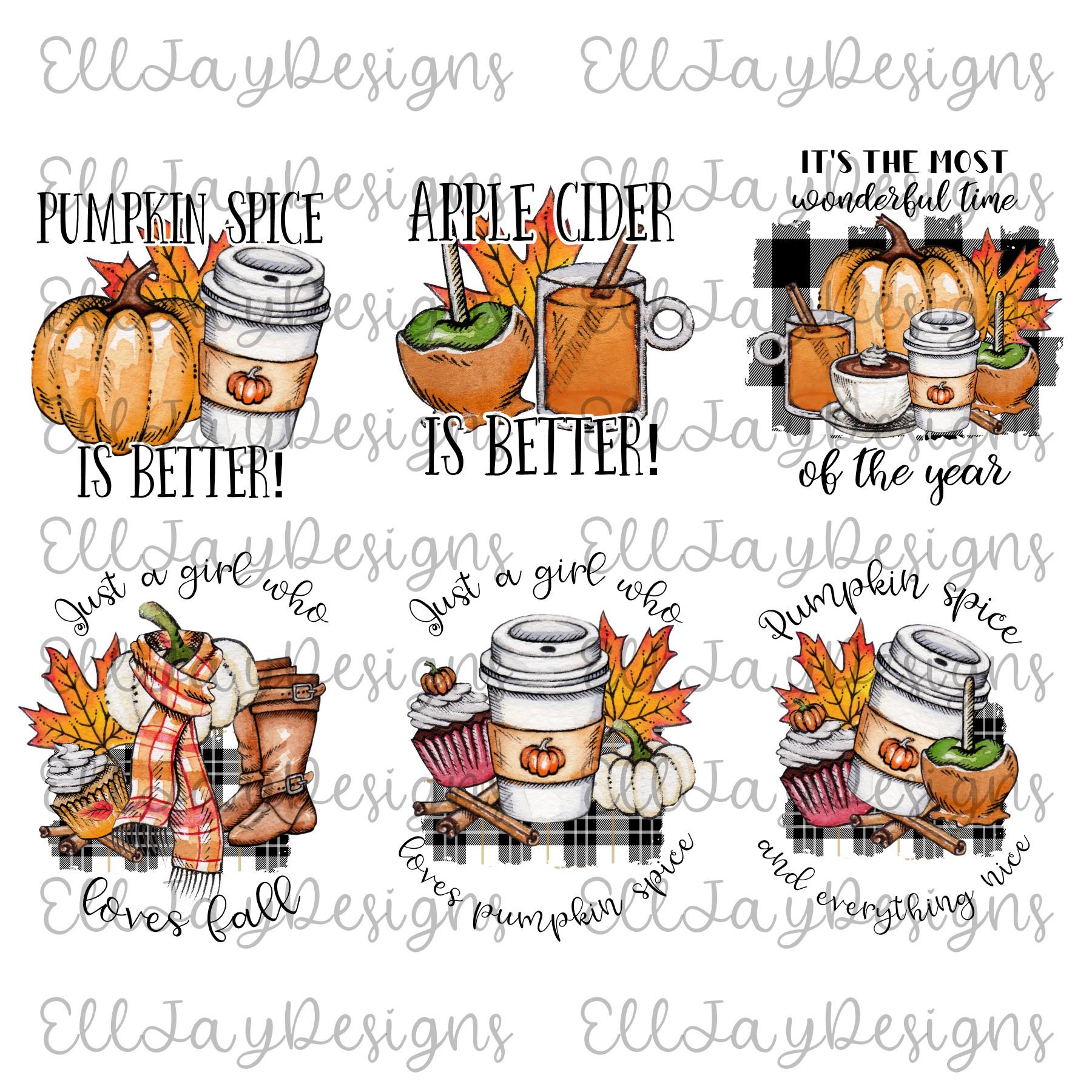 6 Plaid Pumpkin Sublimation Designs example image 2