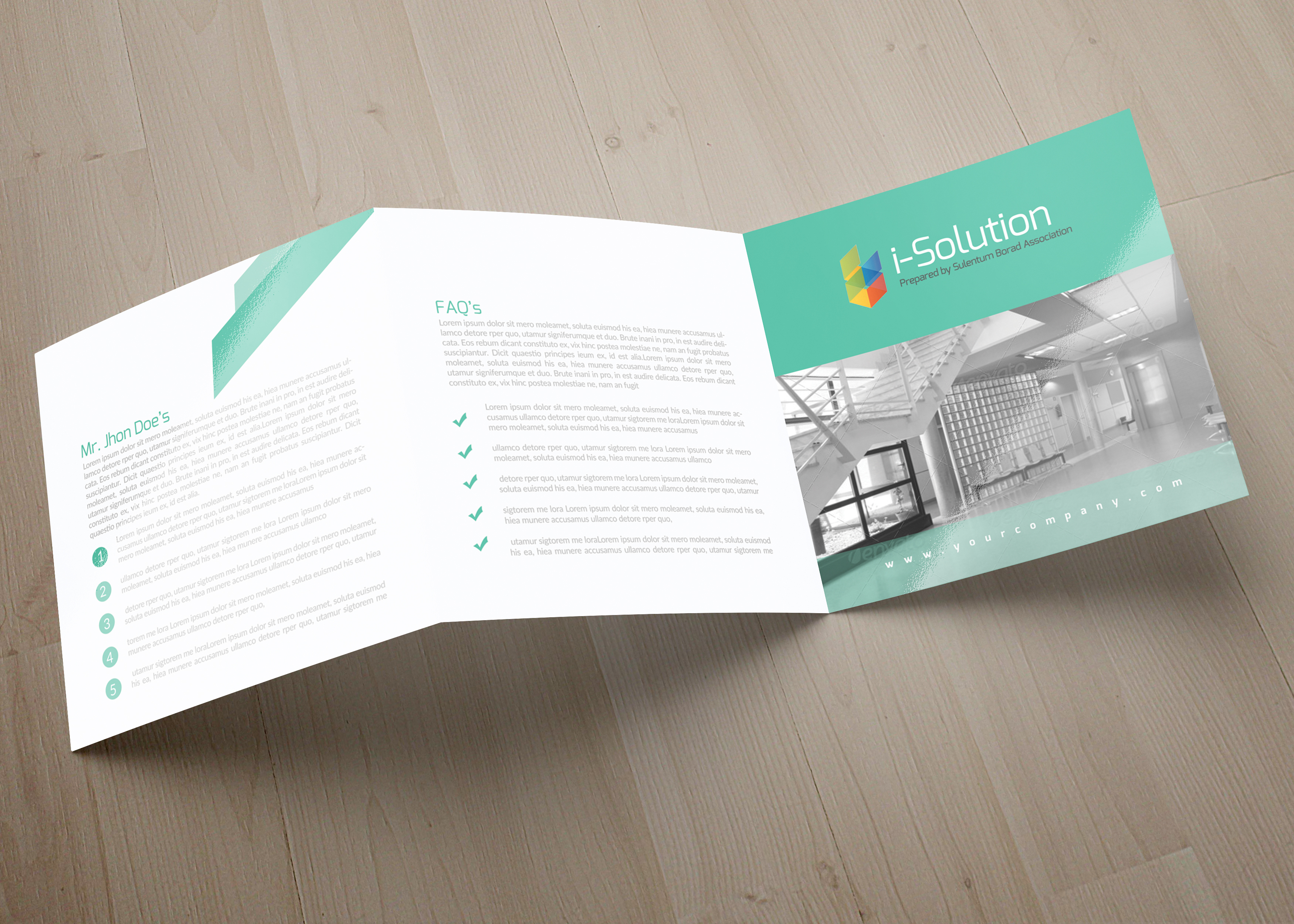 Business Solution Square Trifolde Brochure example image 3