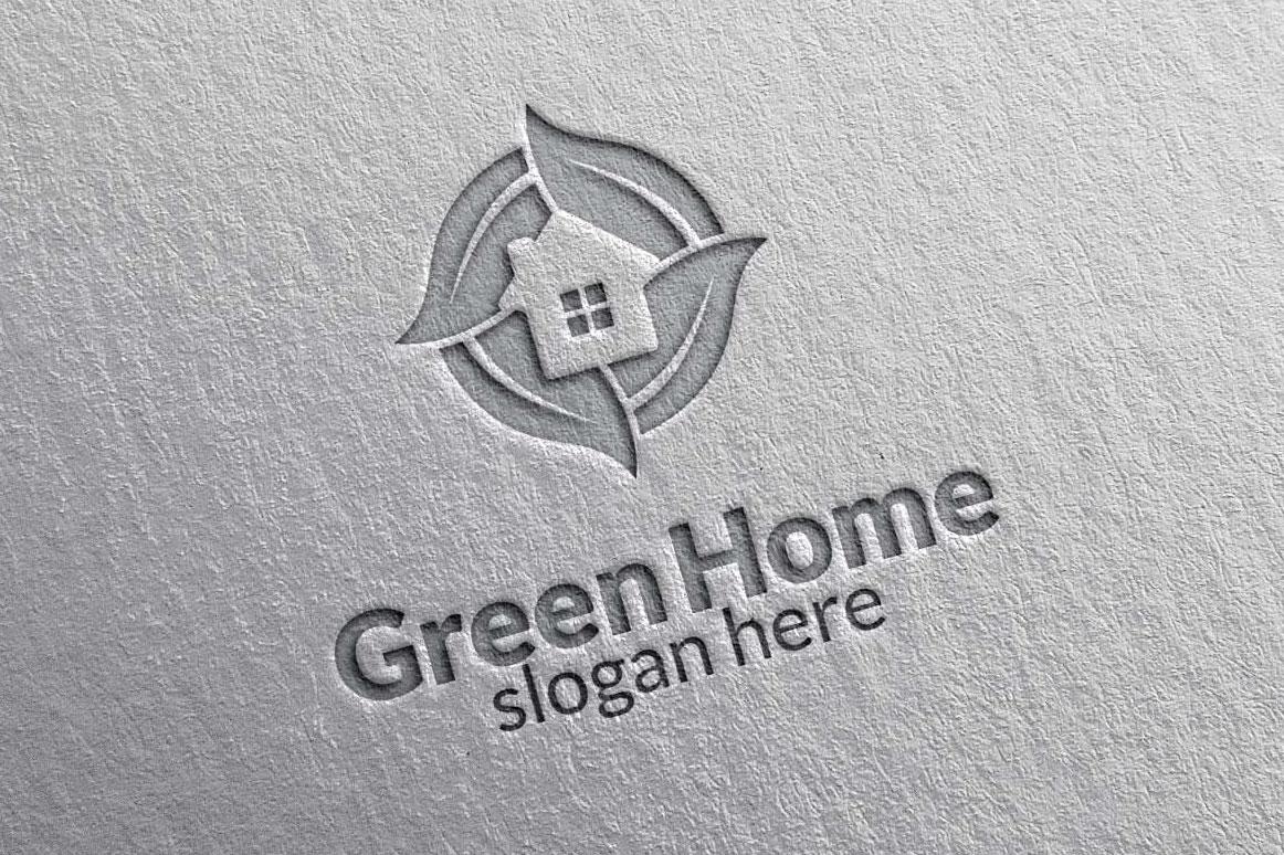 Real estate Logo, Green Home Logo 3 example image 5