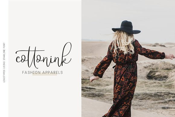 Starline | Beautiful Script Fonts example image 3