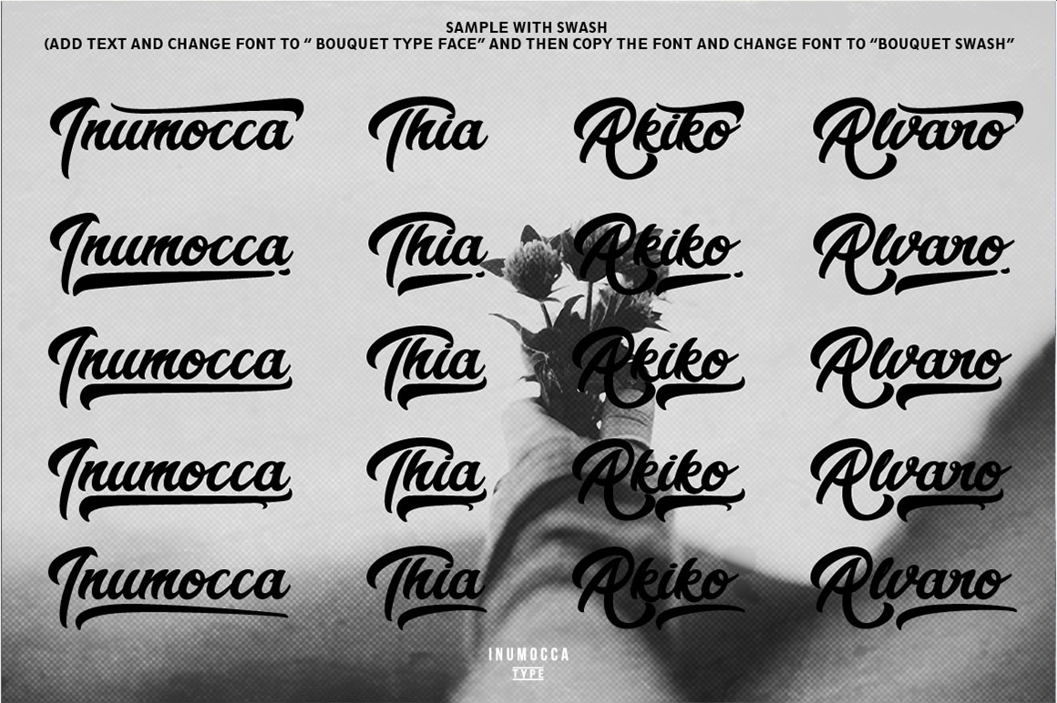 Bouquet Typeface example image 10