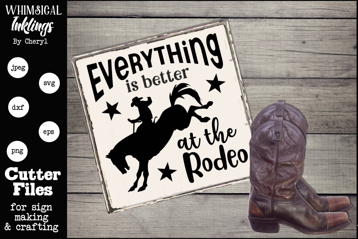 Everything Is Better At The Rodeo SVG example image 1