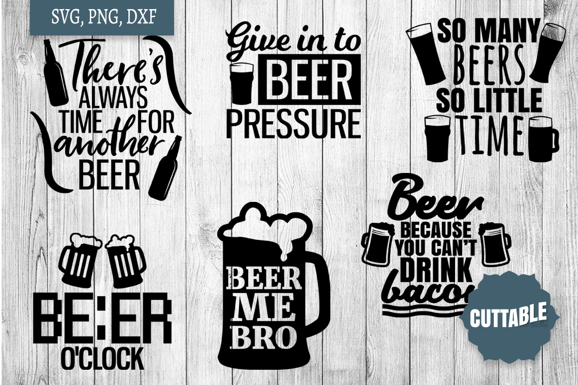 Beer Quotes SVG bundle, Beer lover cut files, Beer SVGs example image 3