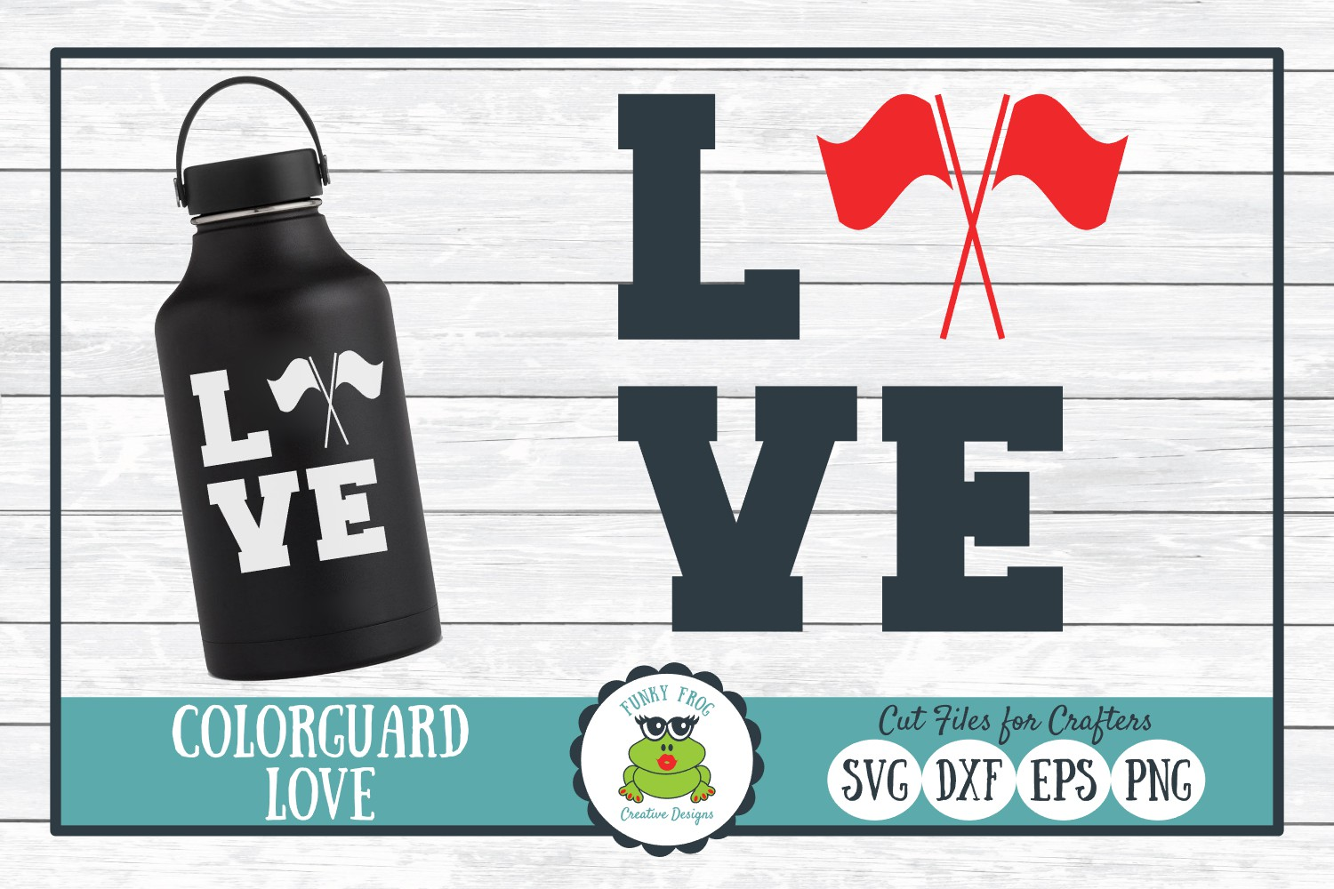 Color Guard Love, SVG Cut File for Crafters example image 1