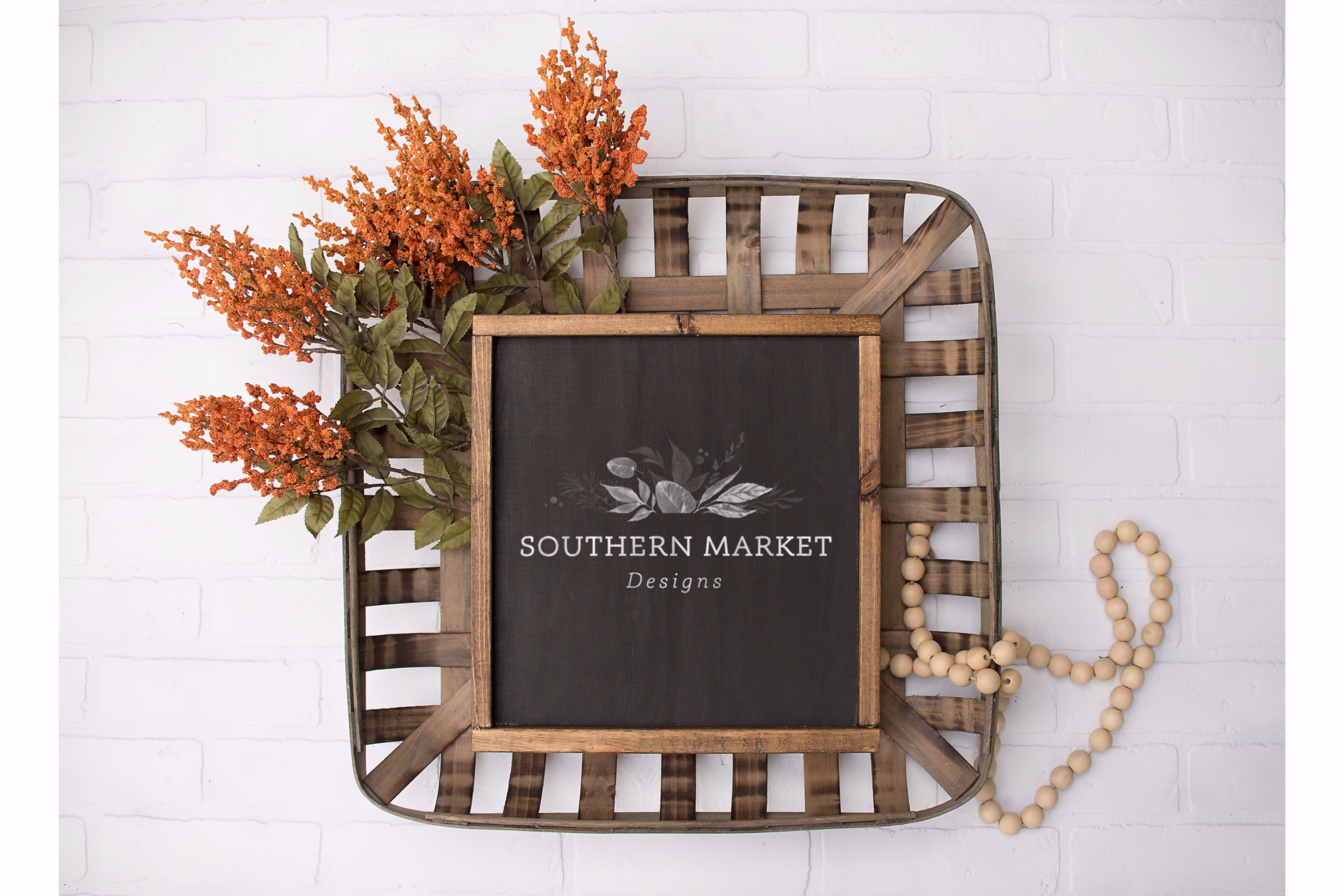 Fall Wood Framed Sign 12x12 Mock Up Photo Stock Photography example image 1