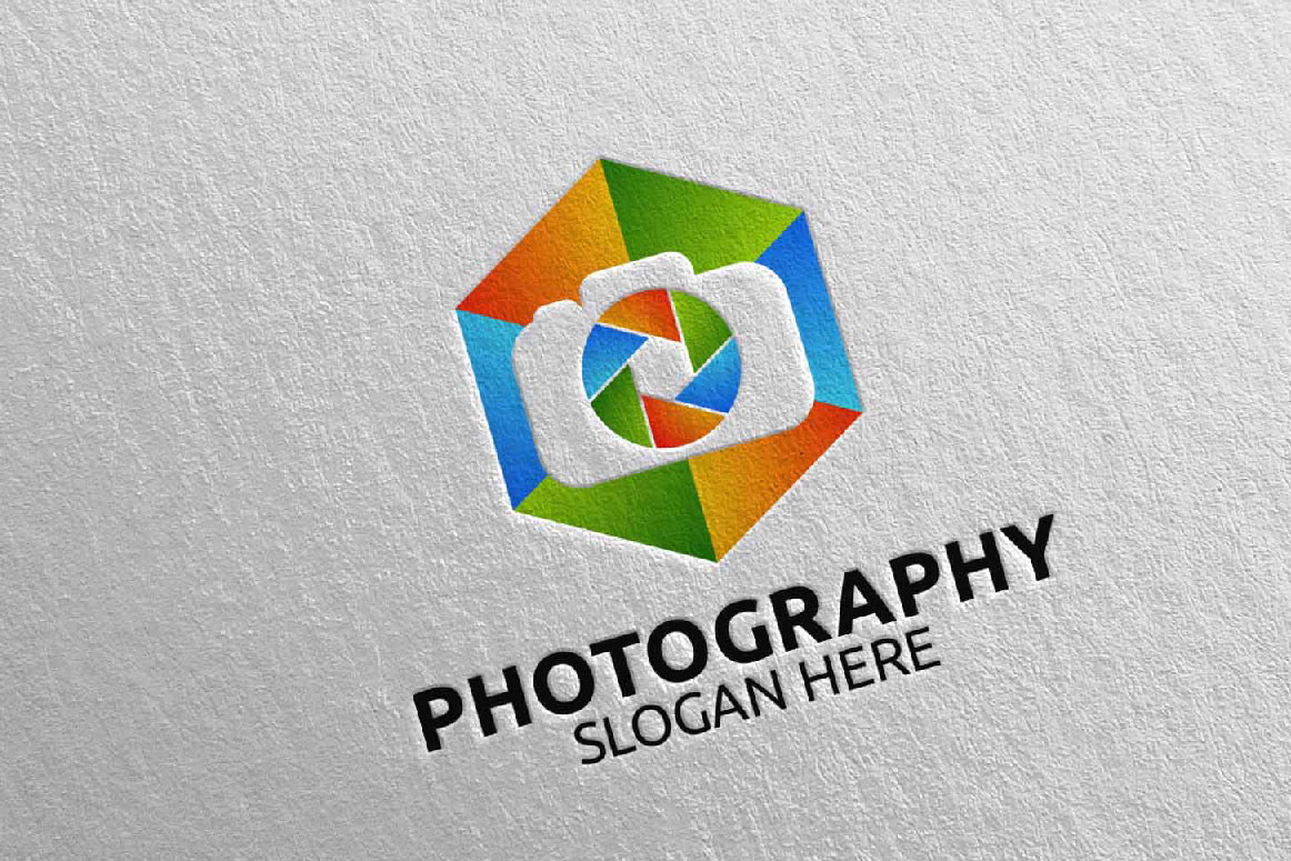 Abstract Camera Photography Logo 6 example image 1
