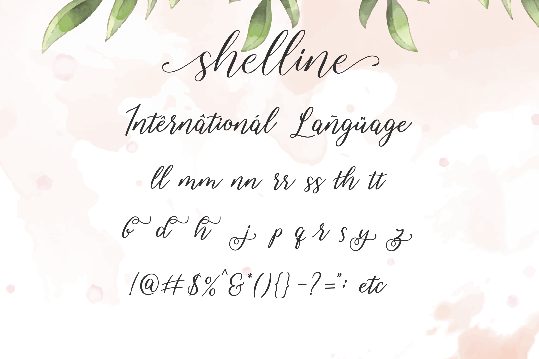 Shelline - Romantic Script example image 8