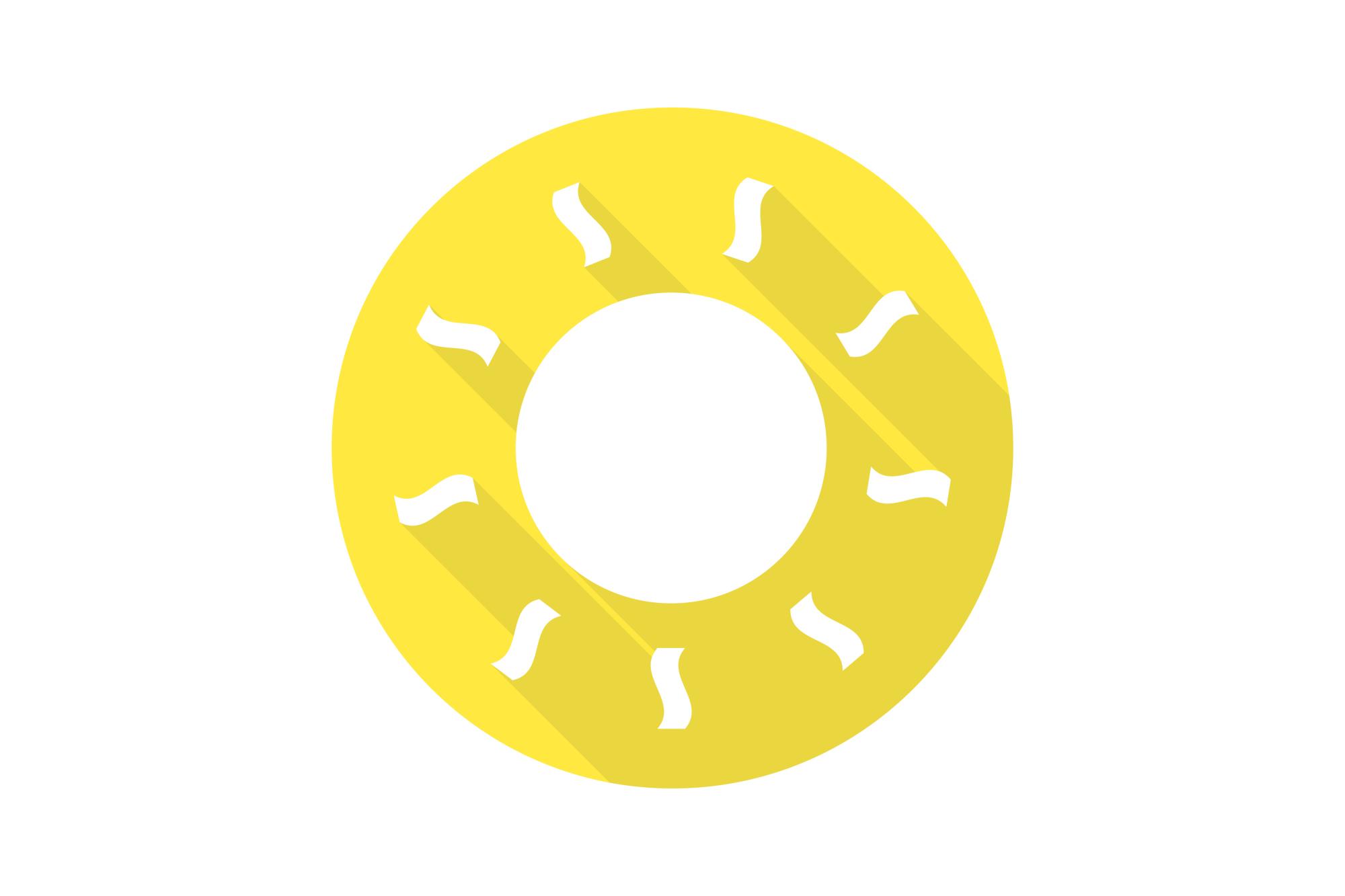 Vector sun icons set. Flat design. example image 3