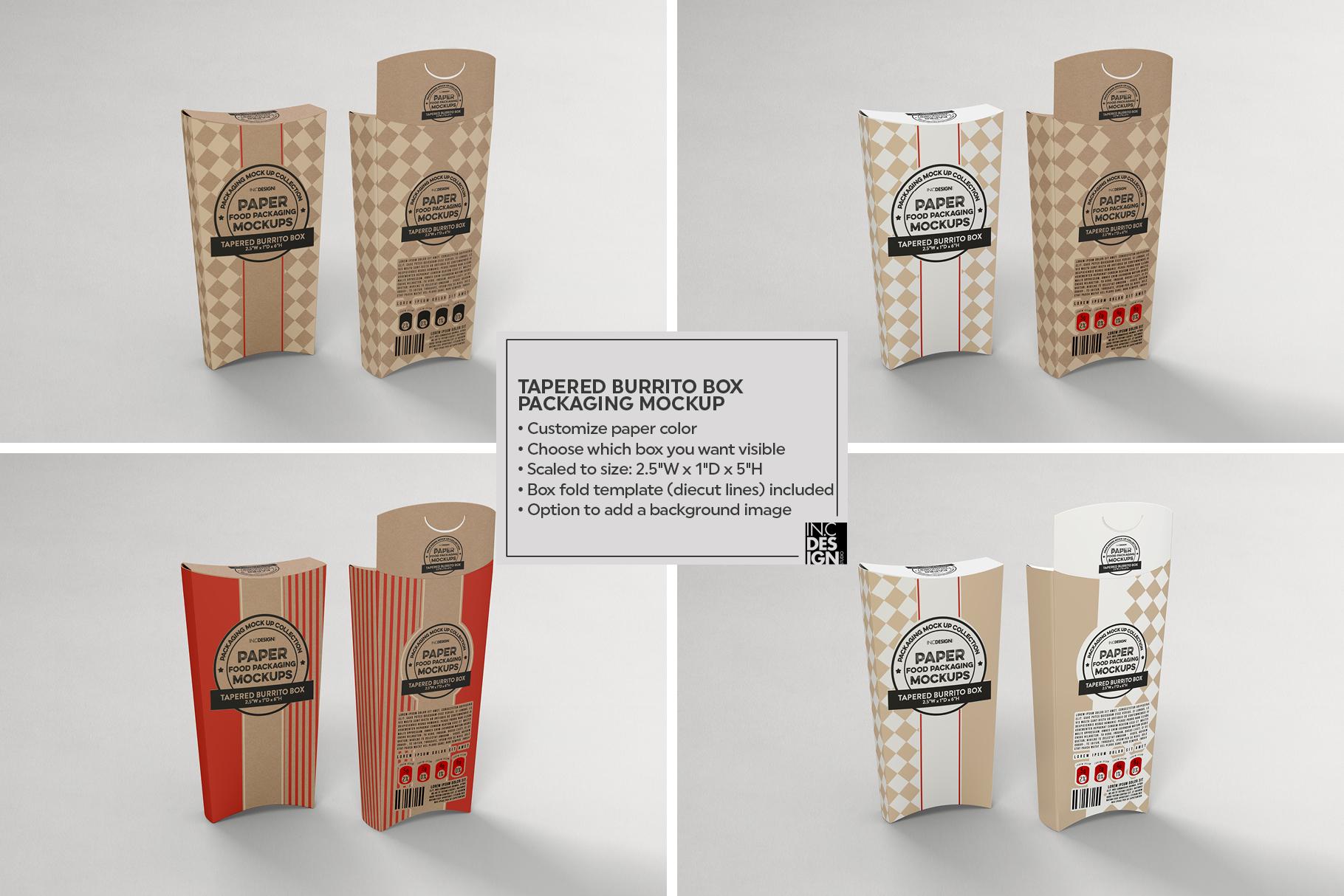 VOL.15 Food Box Packaging MockUps example image 14