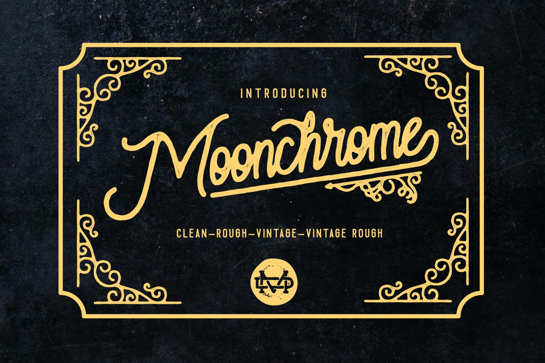 Moonchrome typeface  Bonus example image 1