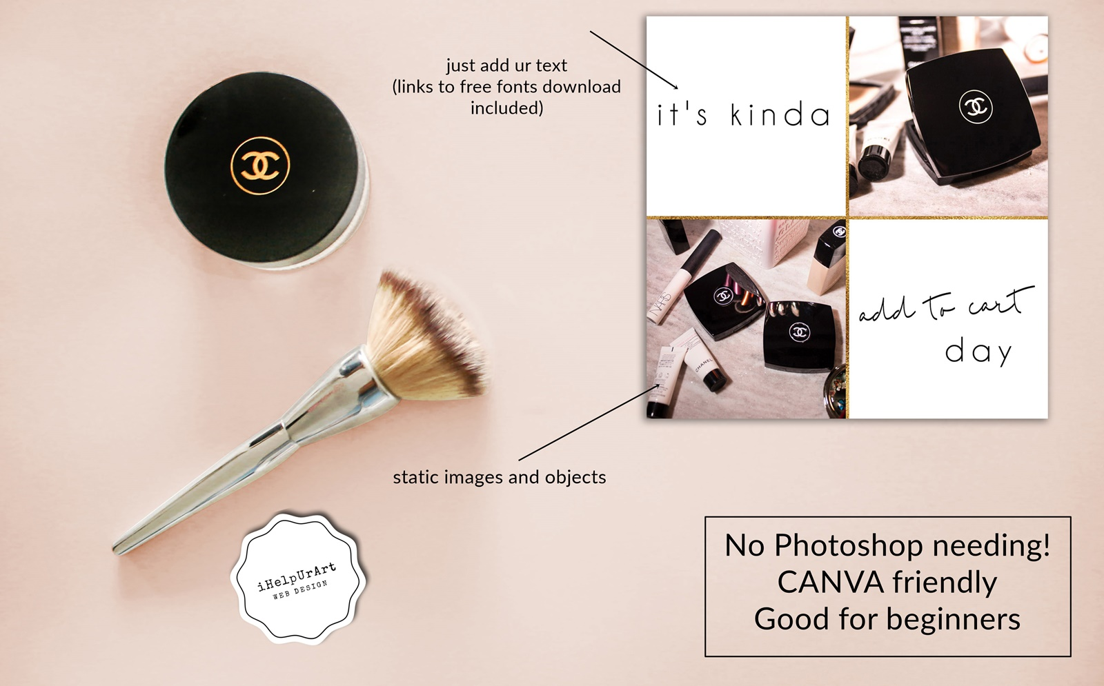 Beauty Blogger Instagram Posts Templates example image 2