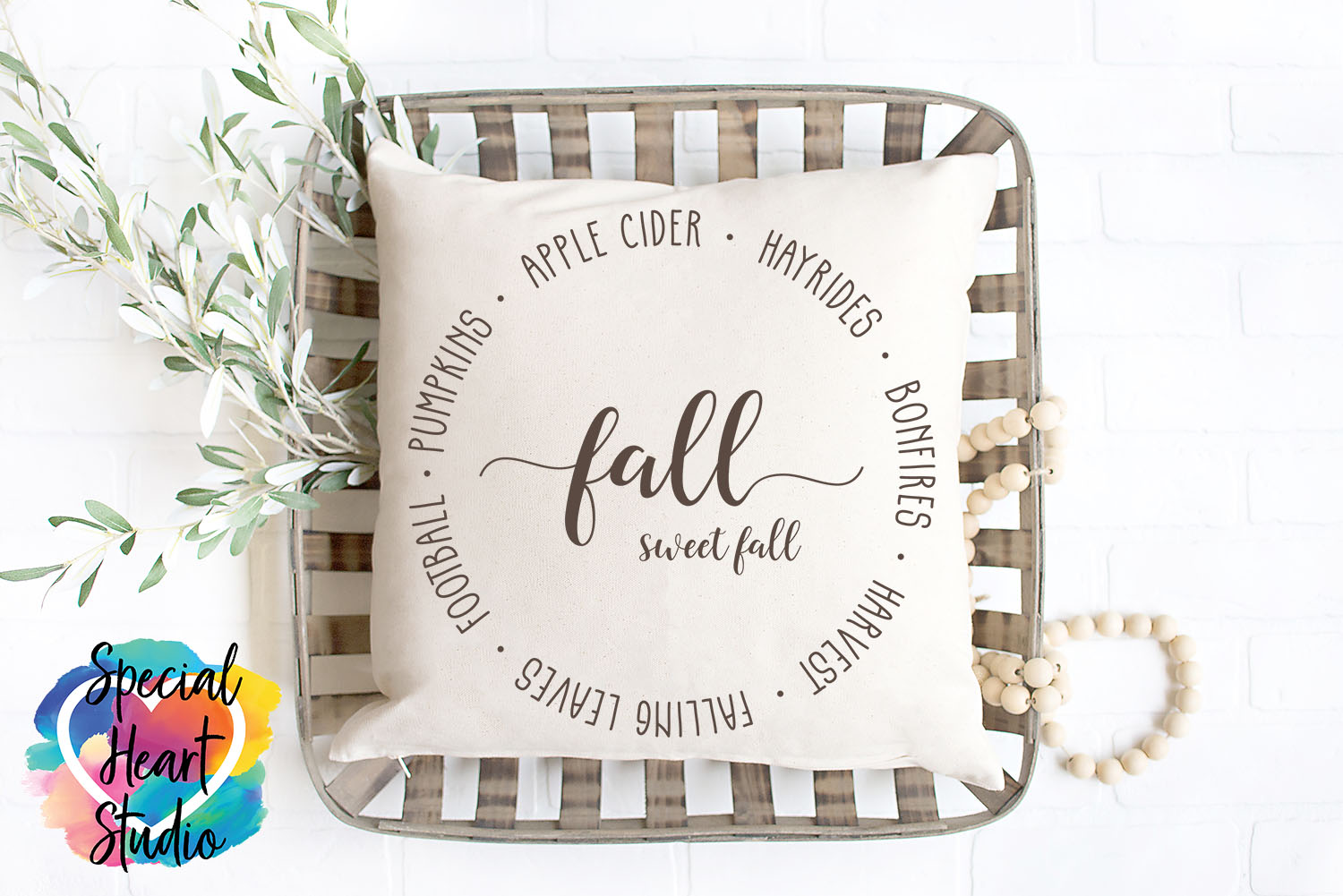 Fall Sweet Fall SVG - Home decor, sign, pillow cut file example image 3