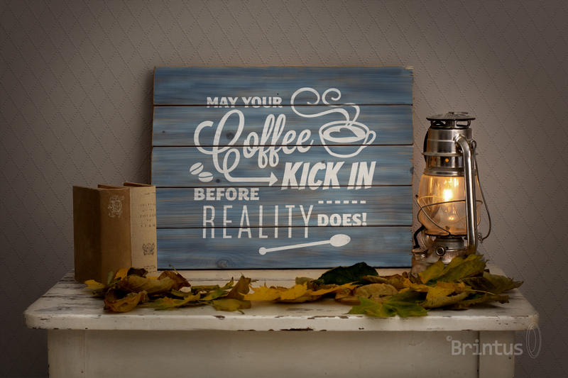 Woodsign mockup - romantic autumn interior example image 5