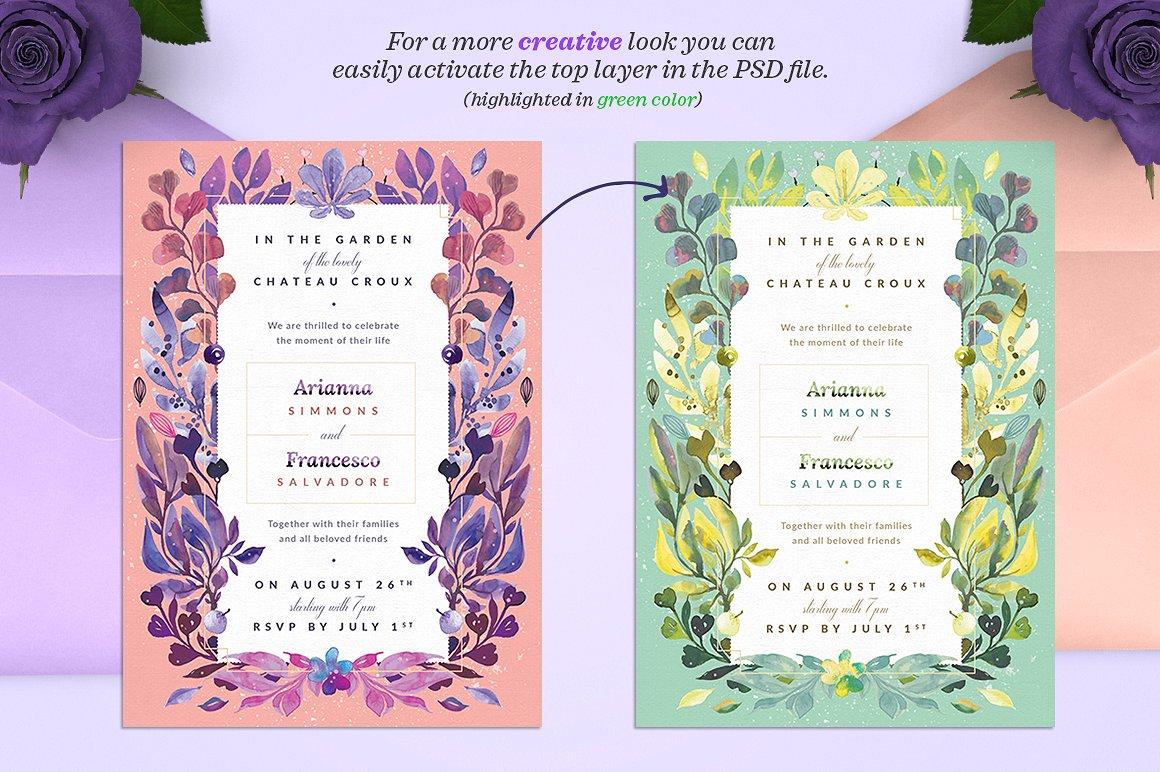 Ultra-Violet Lovely Story Invite I example image 2