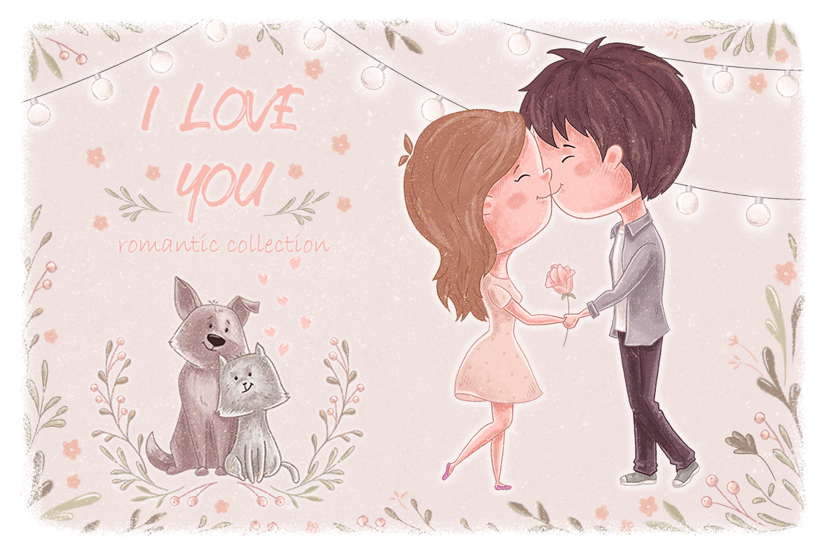 I Love You. Romantic collection example image 1