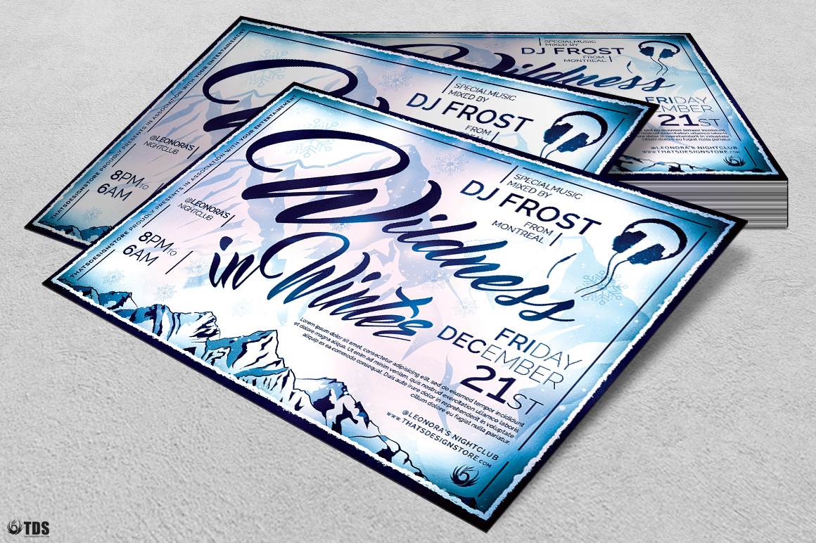 Wildness in Winter Flyer Template example image 4
