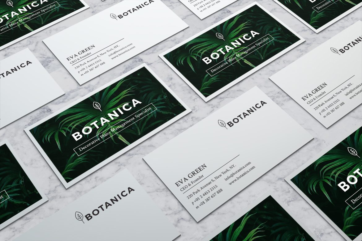 BOTANICA Business Card Template example image 6