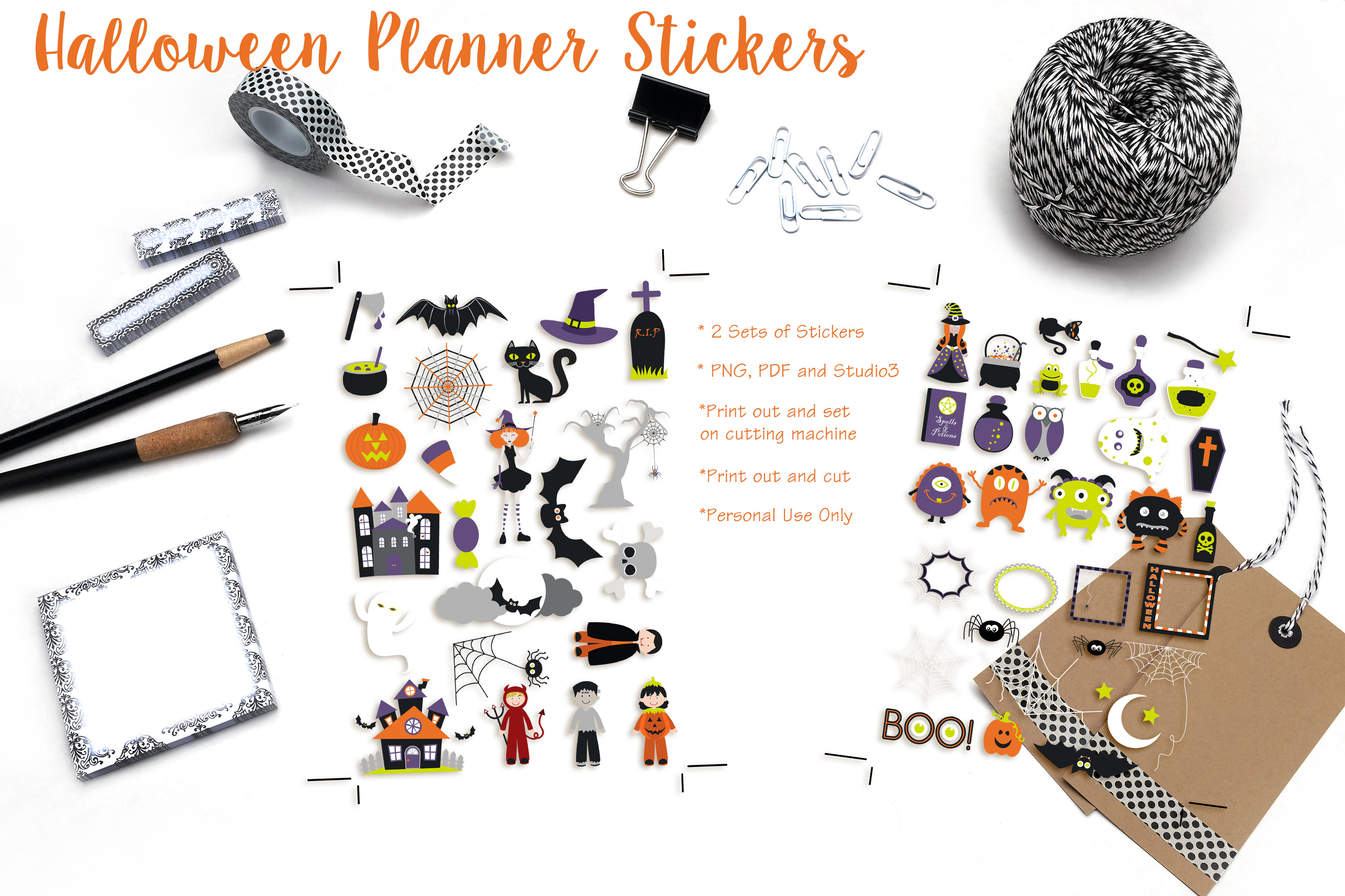 Halloween Planner Stickers example image 1