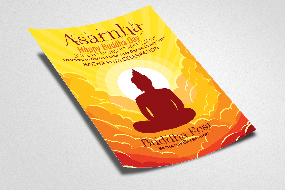Buddha Worship Day Flyer Template example image 2