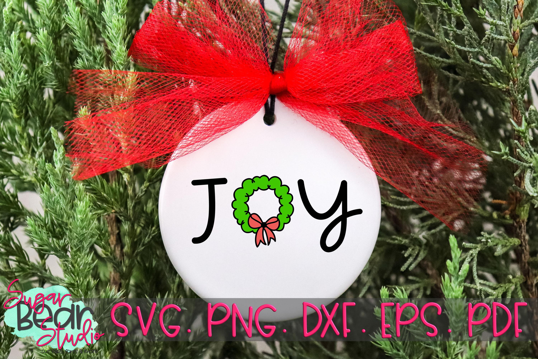 Joy Christmas Wreath - A Christmas SVG example image 2