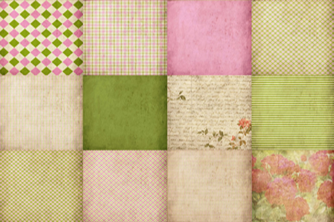 55 Romantic Vintage Background Papers example image 4