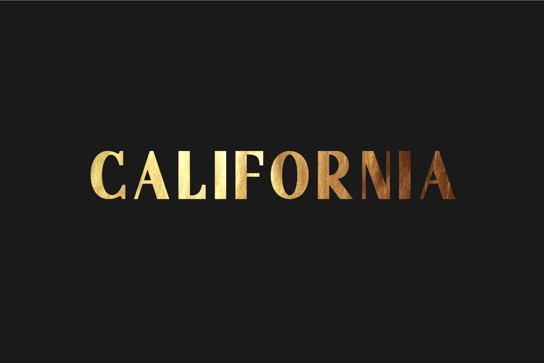 California. Sans serif family. example image 1