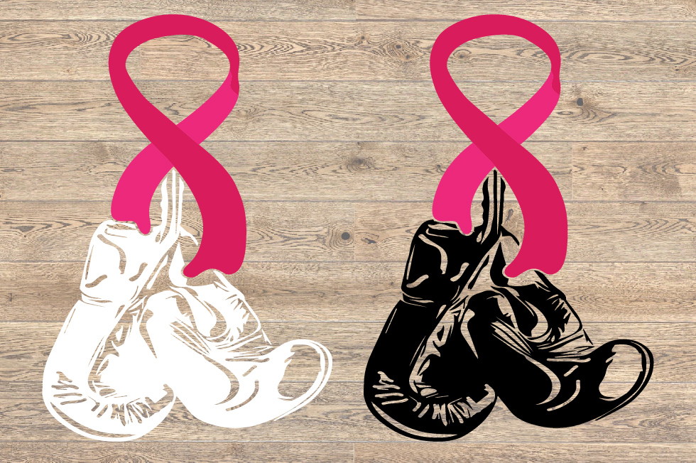 Boxing Gloves Hanging On Breast Cancer SVG Fight 1462S example image 2