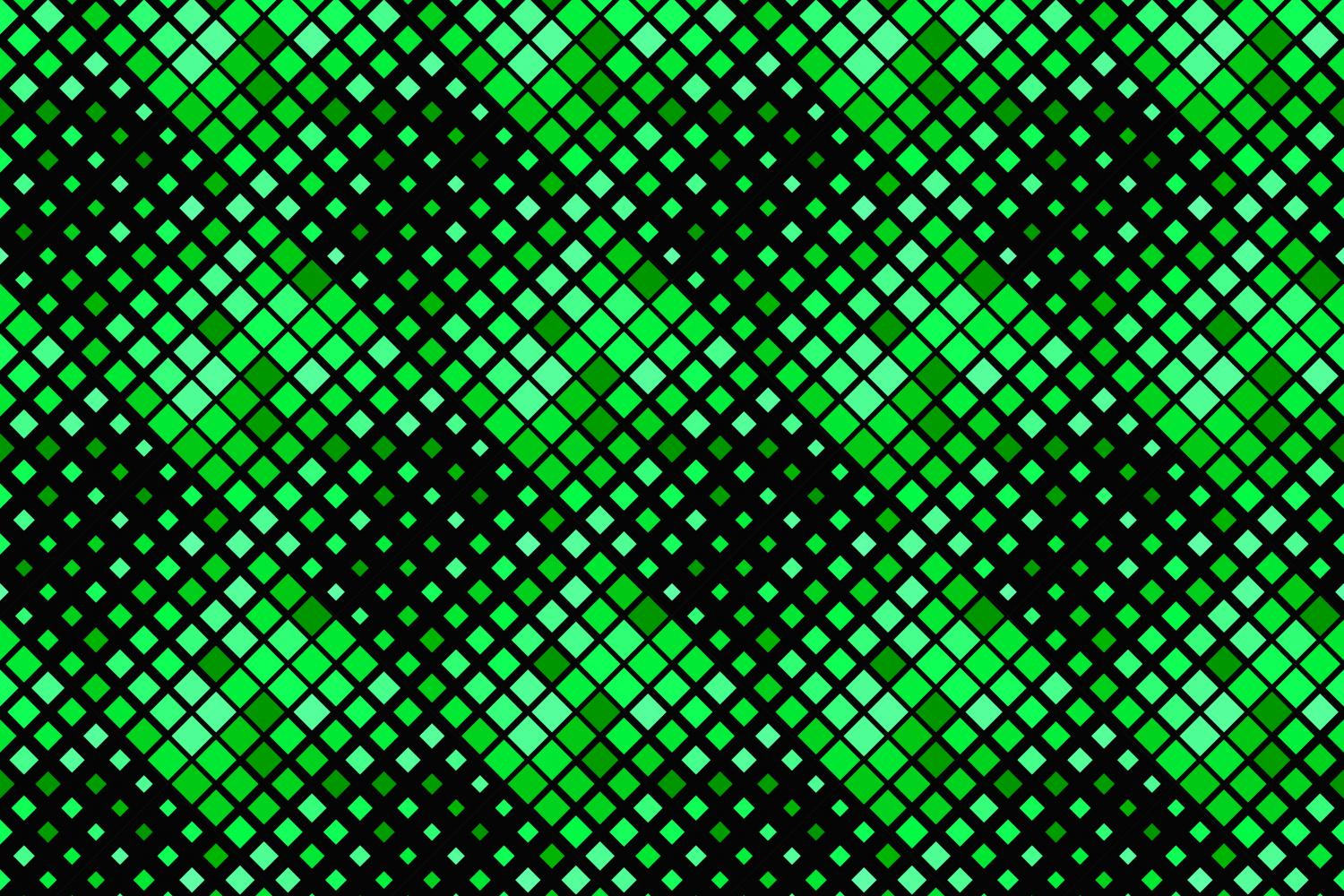 24 Seamless Green Square Patterns example image 17