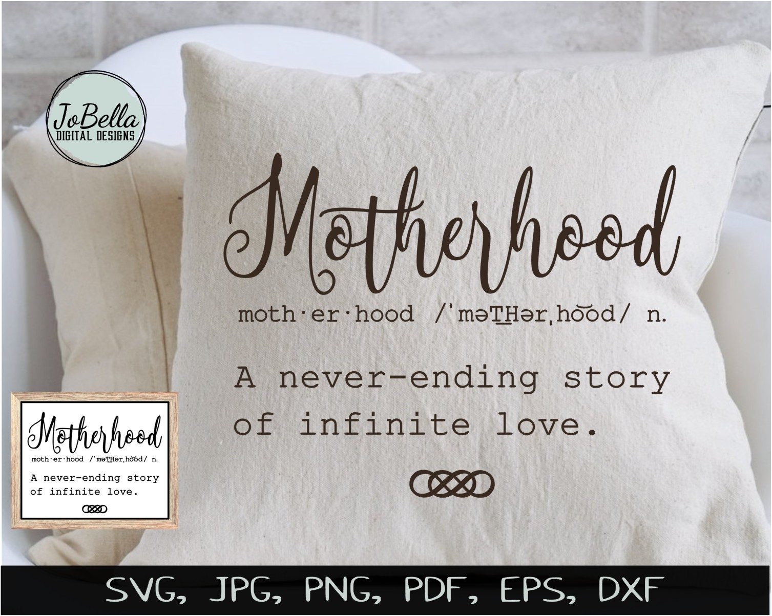 Motherhood SVG, Sublimation Design and Mother's Day Print example image 2