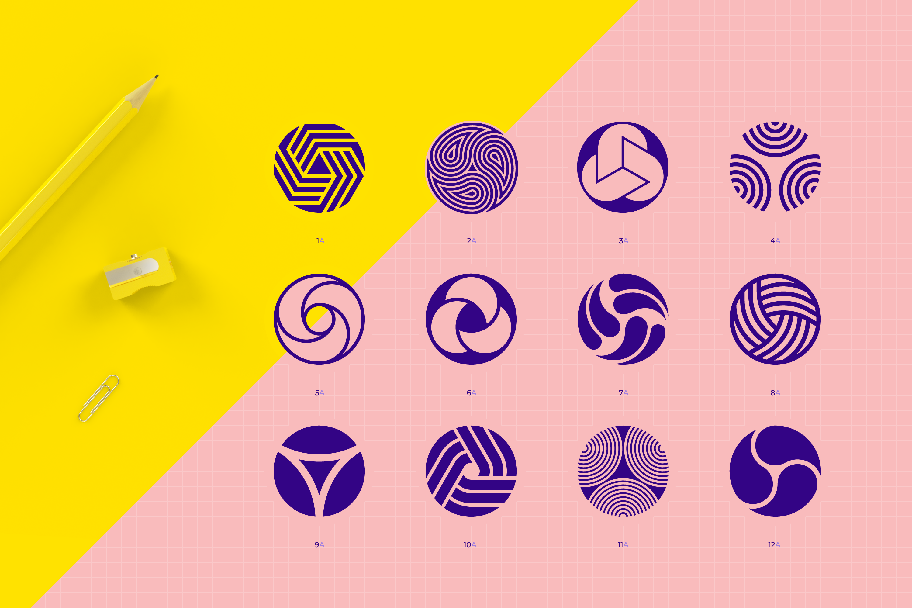 96 Geometric shapes & logo marks collection VOL.1 example image 2