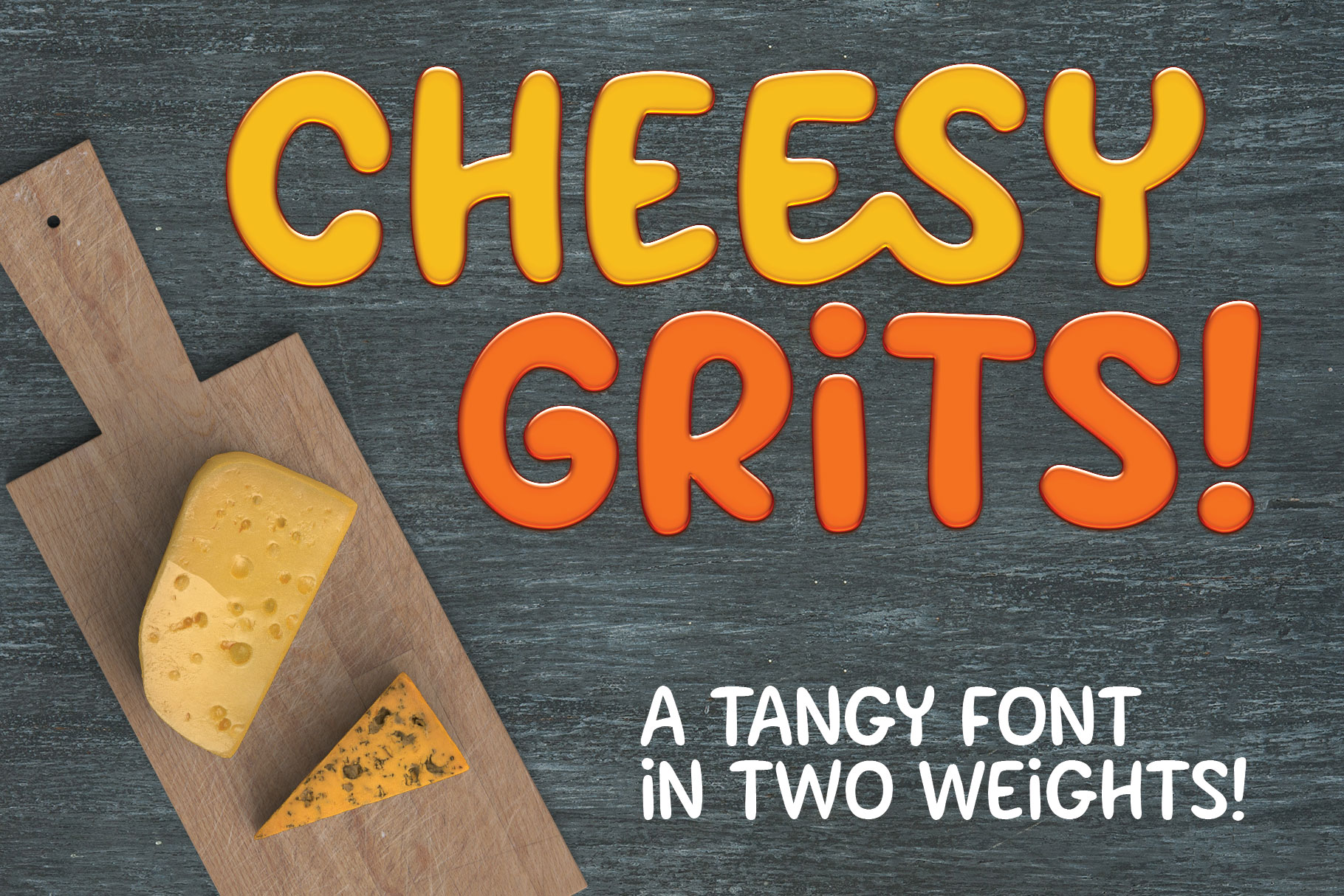 Cheesy Grits - a tangy font in 2 weights! example image 1