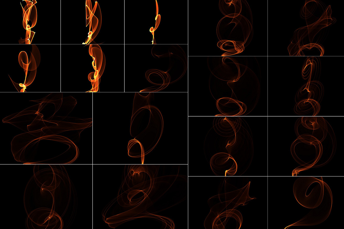 75 Abstract Fire Overlays Vol. 1 example image 3