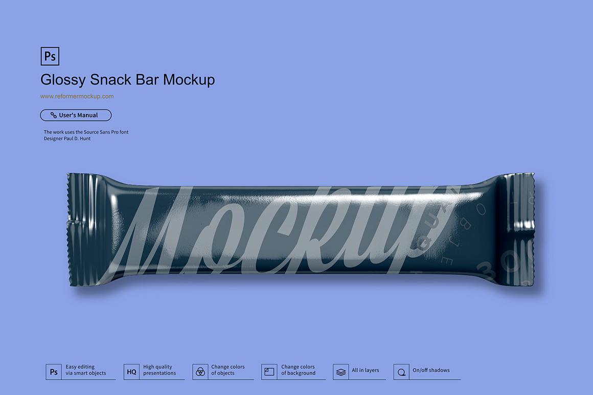 Glossy Snack Bar Mockup example image 2