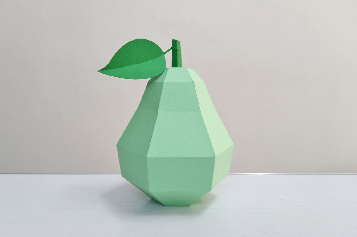 DIY Papercraft Pear,Papercraft fruits,Paper toy,Party,Cricut example image 3
