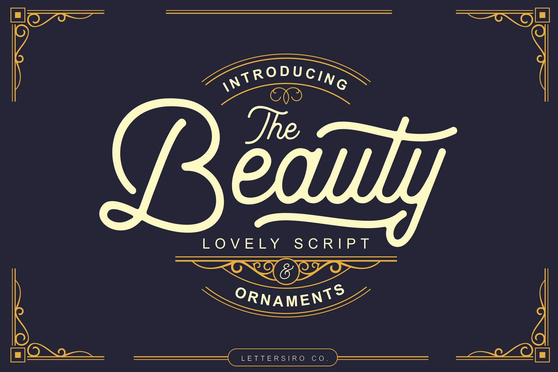 Beauty Script & Ornaments example image 1