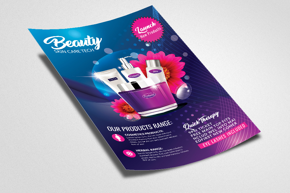Beauty Skin Care Flyer Template example image 2