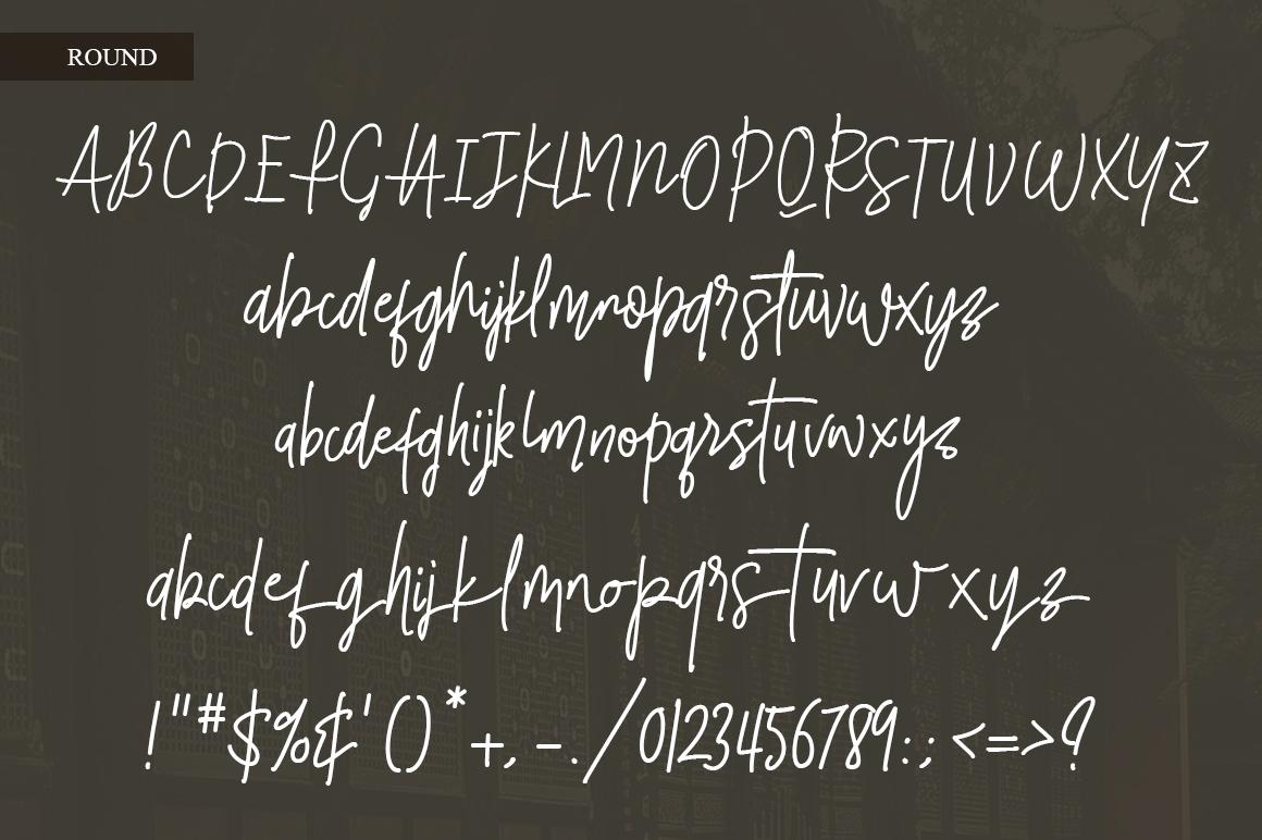 Smalltown handwritten font example image 6