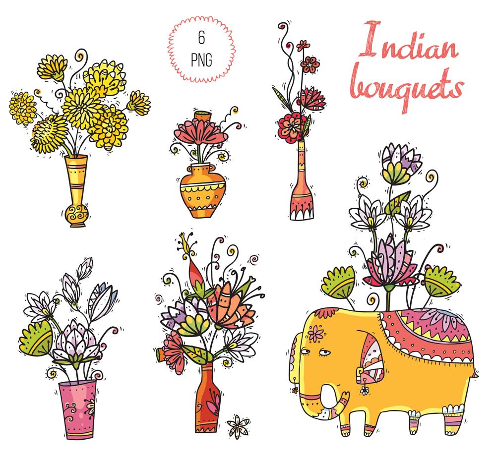 Big Indian Bundle - 145 objects example image 13