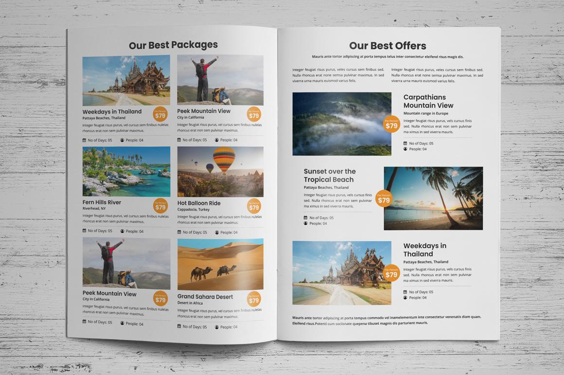 Holiday Travel Brochure Design v5 example image 3