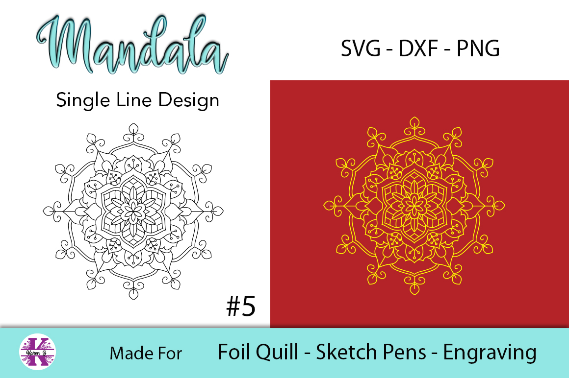 Mandala #5 for Foil Quill |Sketch Pen | Embossing example image 2