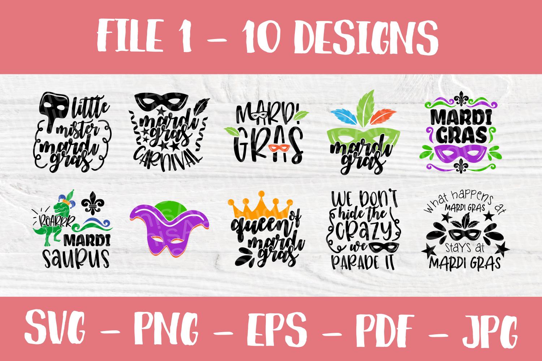 Mardi Gras SVG | SVG Bundle | Cut Files | T shirt Designs example image 2