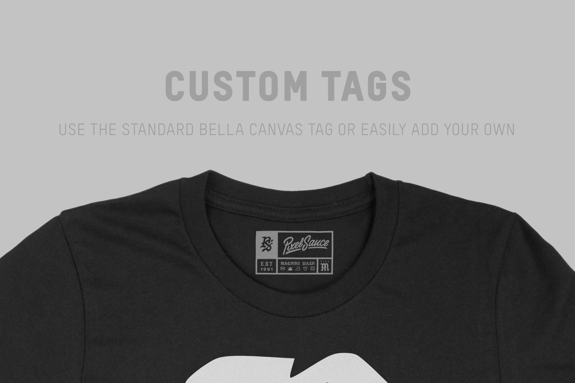 Bella Canvas 3001 Unisex Jersey T-Shirt Mockup Set example image 7