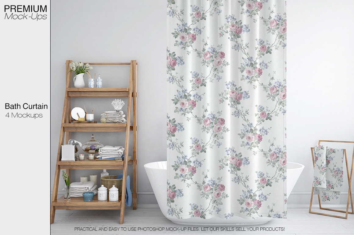 Bath Curtain Mockups example image 1