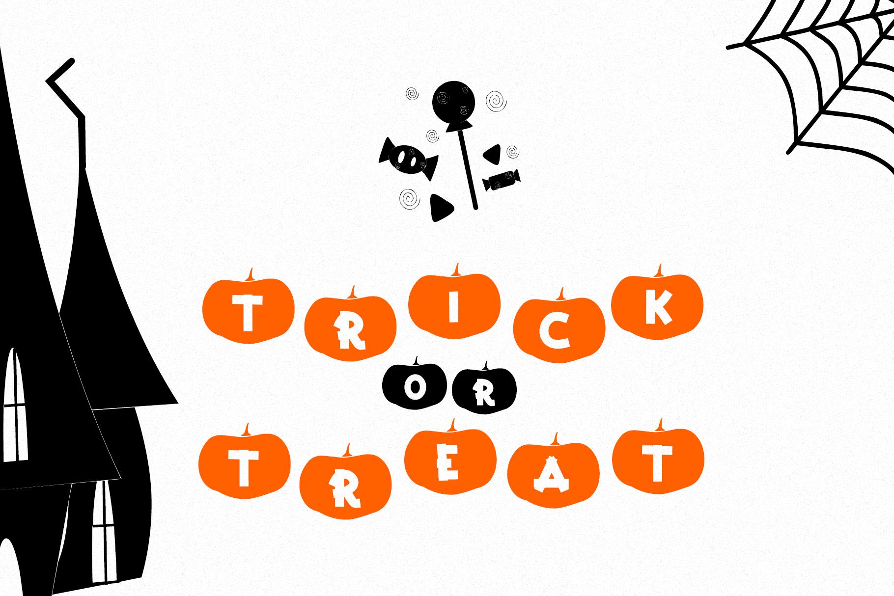 Happy Pumpkins - Pumpkin Decoration Font example image 3