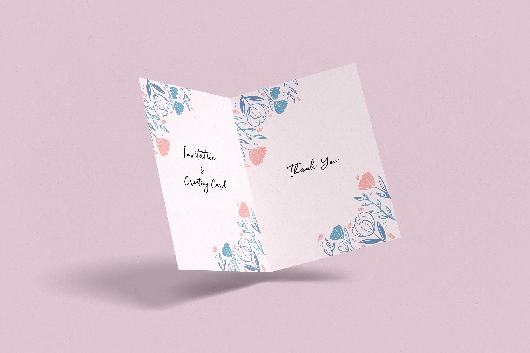 Invitation & Greeting Card Mockup example image 5